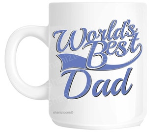 Dad World's Best Blue Father's Day Novelty Gift Mug shan829
