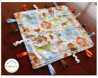Handmade Baby/Toddler/Child Sensory Taggie Blanket Comforter Shower Gift