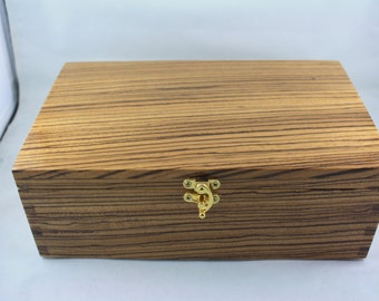 South African Zebrano Jewelry Box   SAZRB  6600108