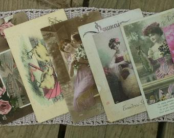 Lot of 7 cards postcards vintage