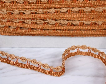 4 m Ribbon 14mm, polyester, yellow-orange, (1235)