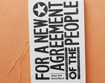 For a New Agreement of the People – artist book