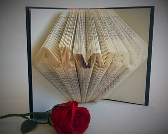 Engagement Gift for Couple, Folded Book Art Sculpture, Engagement Gifts