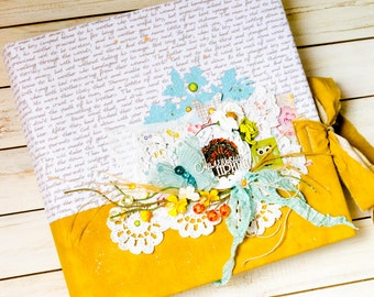 Sold! Bright baby album, The Little Prince, a great album for a baby in cloth cover, yellow album for newborn boy, a gift for a new baby