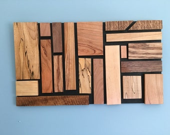 Modern Wood Wall Art, Natural Wood Grain, using upcycled wood to create a beautiful unique art piece.