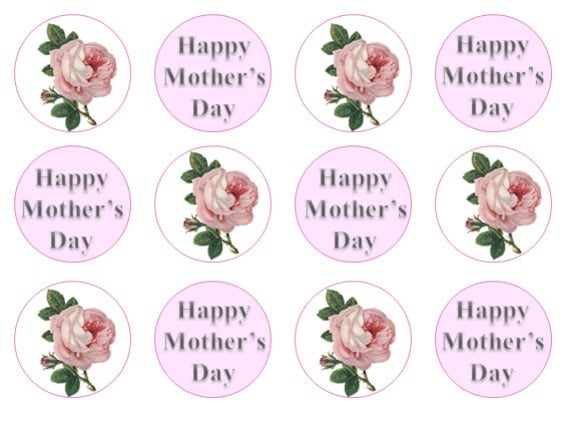 Mother 39 S Day Cake Toppers Edible Cupcake Toppers Gift