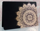 Mandala Rose Gold Foil Blank Any Occasion Greeting Card, Birthday, Luxury Bollywood Style Handmade Card, Note Cards, Thank You, Wedding
