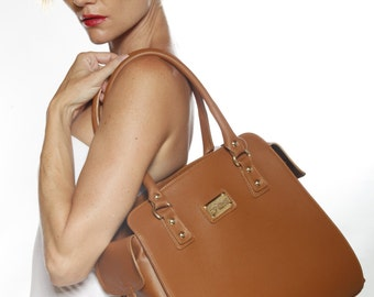 LAFatima Brown Leather Bag/Office Bag/LeatherTote Bag/Leather Bag/Large Leather Tote Bag/Made in Italy/Leather Work Bag/Handmade Leather Bag