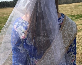 Rustic Bachelorette/Bridal Party Veil