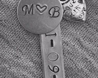Personalized *custom hand stamped keychain