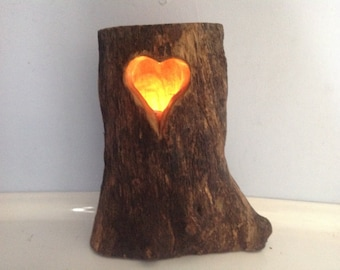 Heart log candle - Valentines day