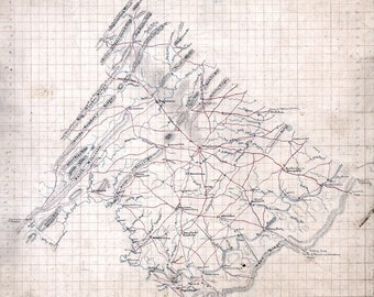 1860 Map of Frederick County Virginia