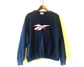 Vintage 1990s oversized grunge Reebok sweatshirt