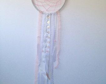 Pink/white lace dreamcatcher