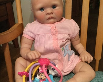 Reborn baby girl cooper realistic vinyl baby doll hand painted