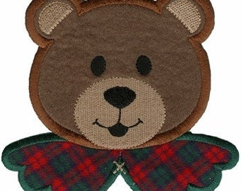 5 7/8'' by 4 1/2'' Iron On Bear Ugly Christmas Sweater Applique w/ Free Shipping