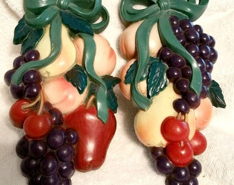Vintage Burwood Fruit Wall Hanging, home and living, home interiors, 1995,