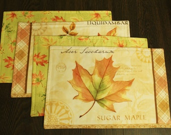 Leaves Placemats Set of 4
