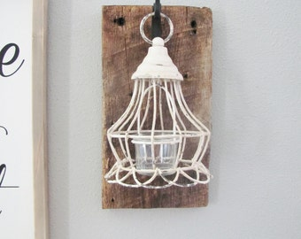 Lantern Wall Sconce, Reclaimed Wood, Barnwood Decor, Barn Wood Decor, Rustic Wall Decor, Farmhouse Decor, Home Decor Rustic, Candle Holder