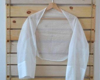 Shawl / Stole / Bolero / shrug organic cotton/Made in italy/Handmade