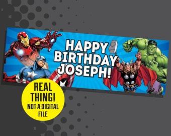 Avengers Banner - Avengers Birthday Party Decor