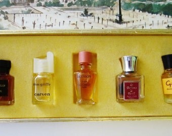 Vintage Bottles 50's Perfume Parfums Boxed Set French Riviera Monte Carlo Paris