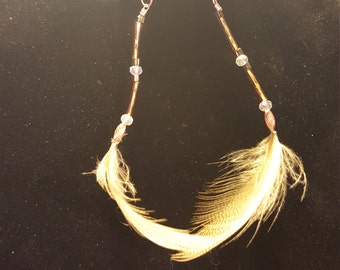 Golden pheasant Feather earrings