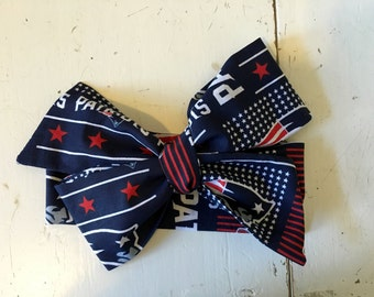 New England, Patriots, Football Headwrap, Team Inspired Headwrap, Baby Headband, Toddler Bows, Big Bow, Baby Girl Headwrap,Headband, Infant