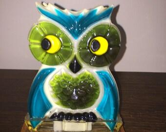Vintage Owl  Letter or Napkin Holder