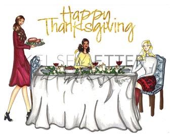 Fashion Illustration- Thanksgiving
