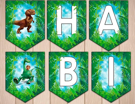 Dinosaur Banner Birthday Download Banner - Dinosaur Birthday Banner ...
