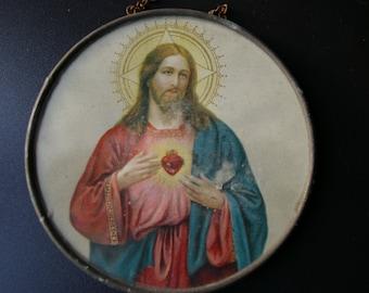 RELIQUARY MONOCHROME JESUS 19th century