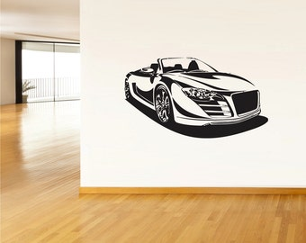 rvz074 Wall Vinyl Sticker Decals Sport Car Auto Automobile