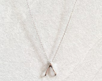 Wishbone Necklace ~ Silver/Gold
