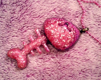 Pink Fishy Bones