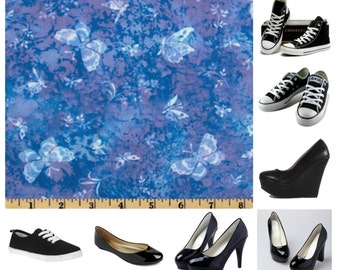 Blue butterfly Shoes  (thyroid awareness inspiration)