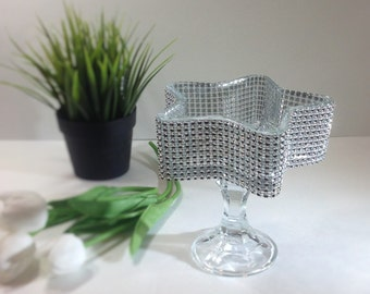 shabby chic vintage modern glass candle holder,vanity decor Piece / home decoration
