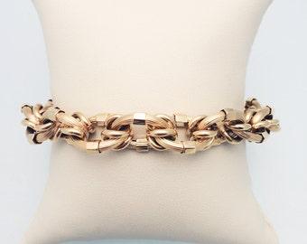 18K Yellow Estate Fancy Link Bracelet