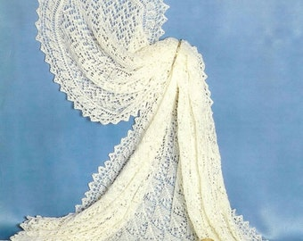 Pdf Knitting Pattern Sunbeam No: 700 - Baby Shawl Knitting Pattern