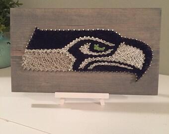 Seattle Seahawk String Art
