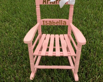 Pink Kids Rocking Chair