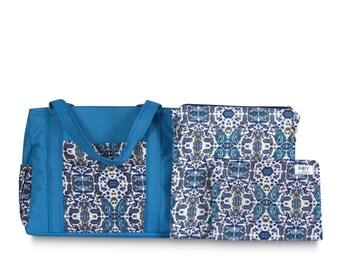 Shoulder bag Paisley blue