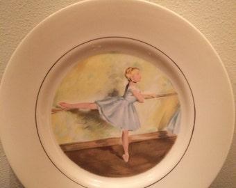 Vintage Ballerina China plate