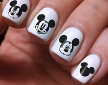 Mickey Mouse Art 300 Nails Decals Nail Decal Nail Polish Vinyl Stickers Custom Birthday Women Baby Wedding Decorations  Party Dress Girls