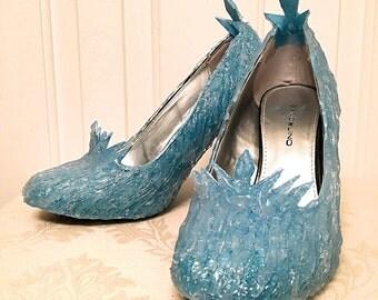 Custom-Made Elsa Inspired Shoes