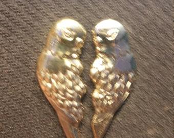 Gold Love Bird Pins