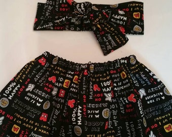 Mickey mouse skirt set