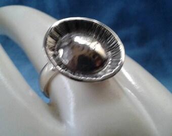 Sterling Silver Rosette Ring