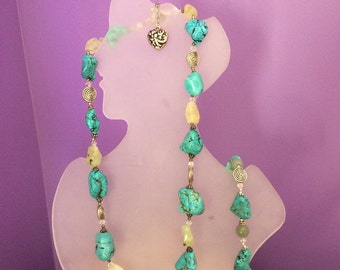 Turquoise with citrine necklace.