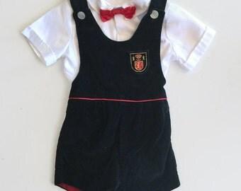 1980's Vintage Baby Boy Dress Clothes - 4T